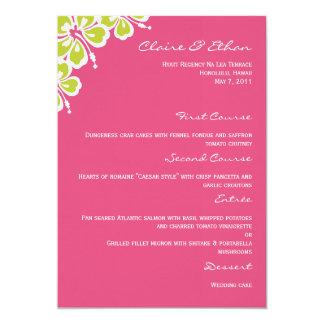 Carte de menu de mariage de plaisir de ketmie - carton d'invitation  12,7 cm x 17,78 cm