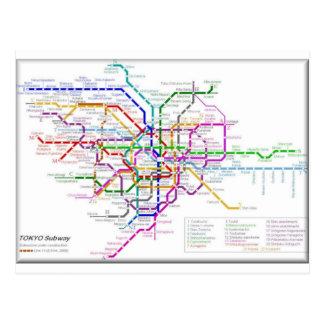 Carte de métro de Tokyo