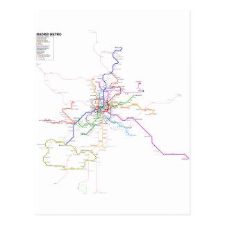 Carte de métro d'Espagne-Madrid