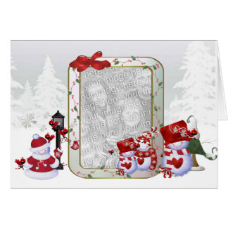 Carte de modèle photo de Noël