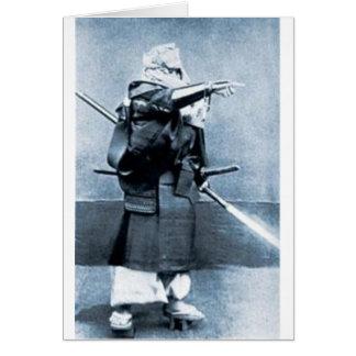 carte de moine antique de guerrier
