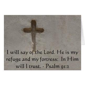 Carte De motivation. 91:2 de psaume de vers de bible