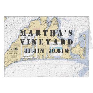 Carte de navigation nautique de Martha's Vineyard