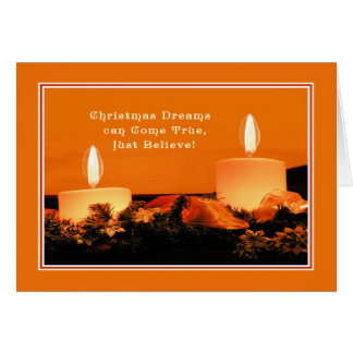 Carte de Noël avec des bougies