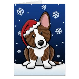 Carte de Noël Brindle de corgi de Gallois de