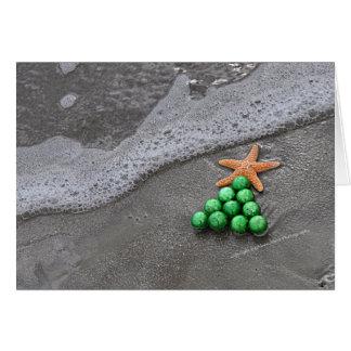 Carte de Noël chic de plage