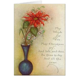 Carte de Noël chique de poinsettia
