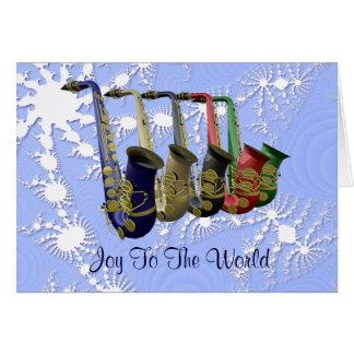 Carte de Noël colorée de flocons de neige de