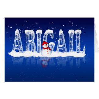 Carte de Noël d'Abigaïl - glace et bonhomme de