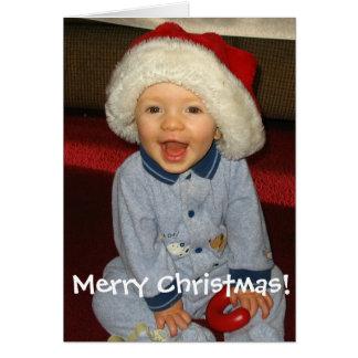 Carte de Noël de bébé de Père Noël
