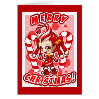 carte de Noël de Candycane-chan