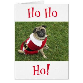 Carte de Noël de carlin de HoHoHo