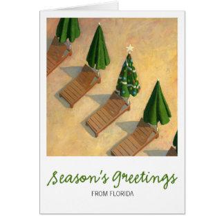 Carte de Noël de chaises de plage