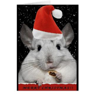 Carte de Noël de chinchilla