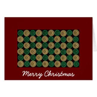 carte de Noël de coquille de fusil de chasse