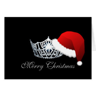 Carte de Noël de couronne de casquette de Père