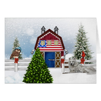 Carte de Noël de ferme