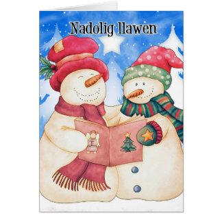 Carte de Noël de Gallois - dragon mignon - Nadolig