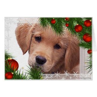 Carte de Noël de golden retriever