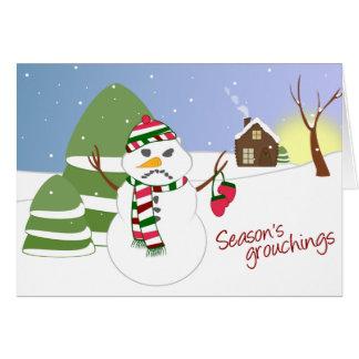 Carte de Noël de Grouchings de la saison