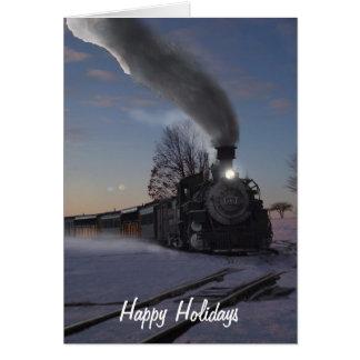Carte de Noël de la machine à vapeur 481