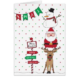 carte de Noël de la salutation de la saison