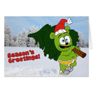 Carte de Noël de la salutation de la saison de