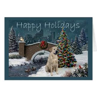 Carte de Noël de labrador retriever Evening2