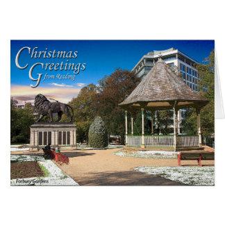Carte de Noël de lecture
