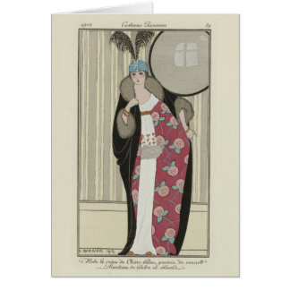 Carte de Noël de Madame et de miroir