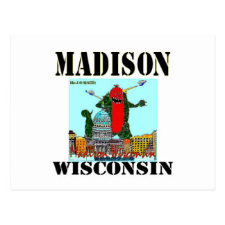 Carte de Noël de Madison le Wisconsin