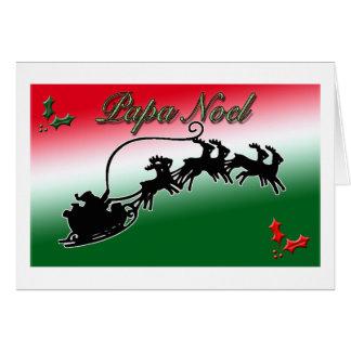 Carte de Noël de Noel de papa