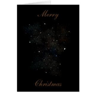 Carte de Noël de nuage d'étoile