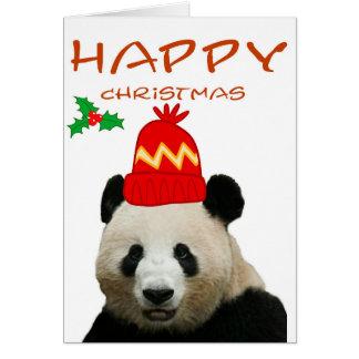 Carte de Noël de panda