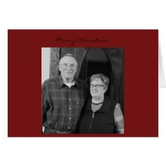 Carte de Noël de papa de maman