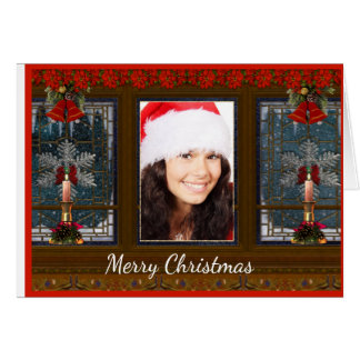 Carte de Noël de photo