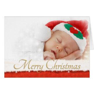 Carte de Noël de photo avec la fourrure ATF de