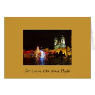 Carte de Noël de Prague