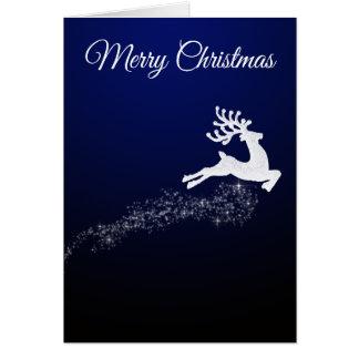 Carte de Noël de renne d'éblouissement