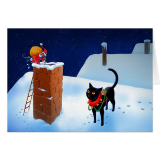 Carte de Noël de souris de Père Noël
