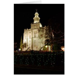 Carte de Noël de temple de St George