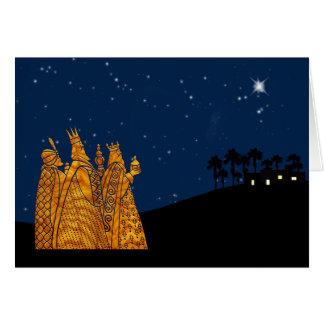 Carte de Noël de trois sages