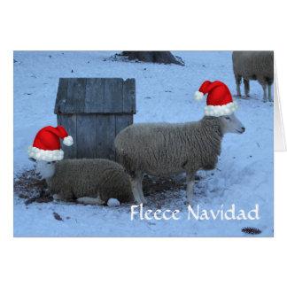 Carte de Noël drôle de moutons de brebis de