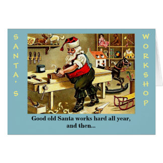 Carte de Noël drôle du père noël