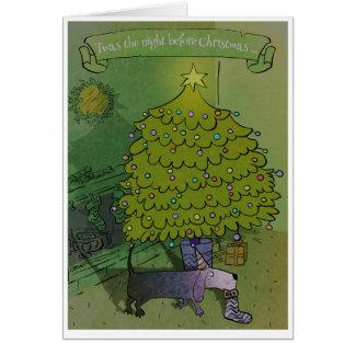 Carte de Noël drôle mignonne poétique