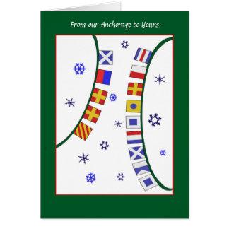 Carte Carte de Noël faite sur commande de drapeau de
