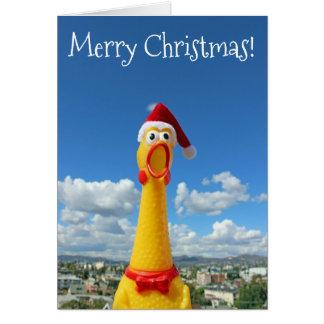 Carte de Noël impressionnante de poulet !
