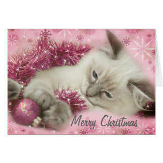carte de Noël mignonne