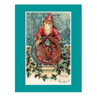 Carte Postale Carte de Noël néerlandaise vintage de Vroolijk
