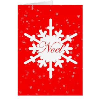 Carte de Noel-Noël - flocon de neige